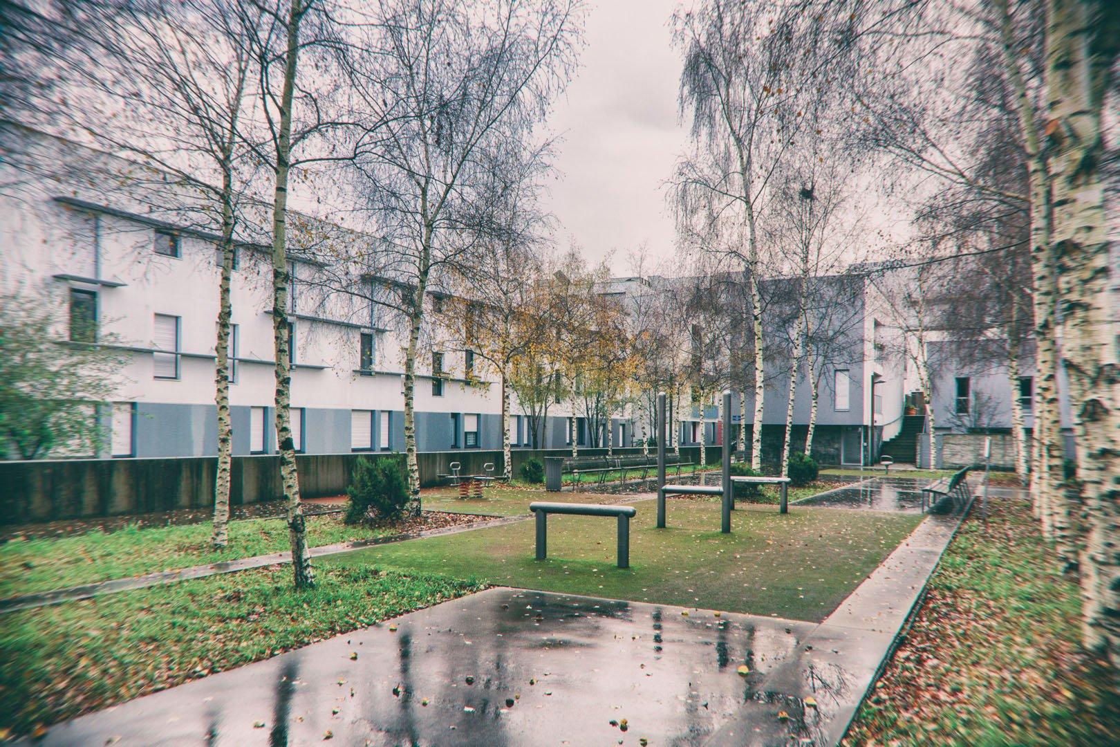 cour d'immeubles